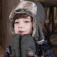 Winter Kids Child Baby  Windproof  Winter  Snow Earflap LeiFeng Warm Pilot Beanie Earmuff  Caps Hats(China (Mainland))