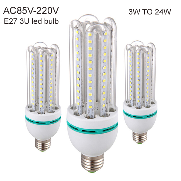 led filament bulb e27 b22 e14 cfl led bulb light 3W 5W 7W 9W 12W 16W 24W 3U 4U LED corn light free shipping 110v-220v bulb lamp(China (Mainland))