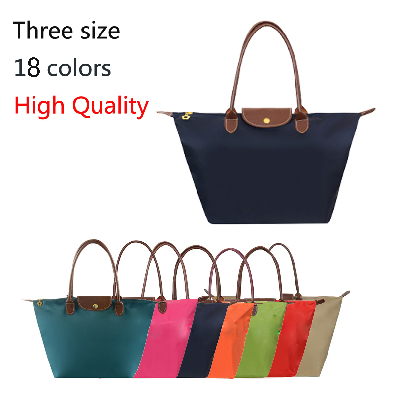 2015 shoulder WaterProof nylon beach Women hand bag female travel tote shopping folding dumplings famous brand ladies handbags(China (Mainland))