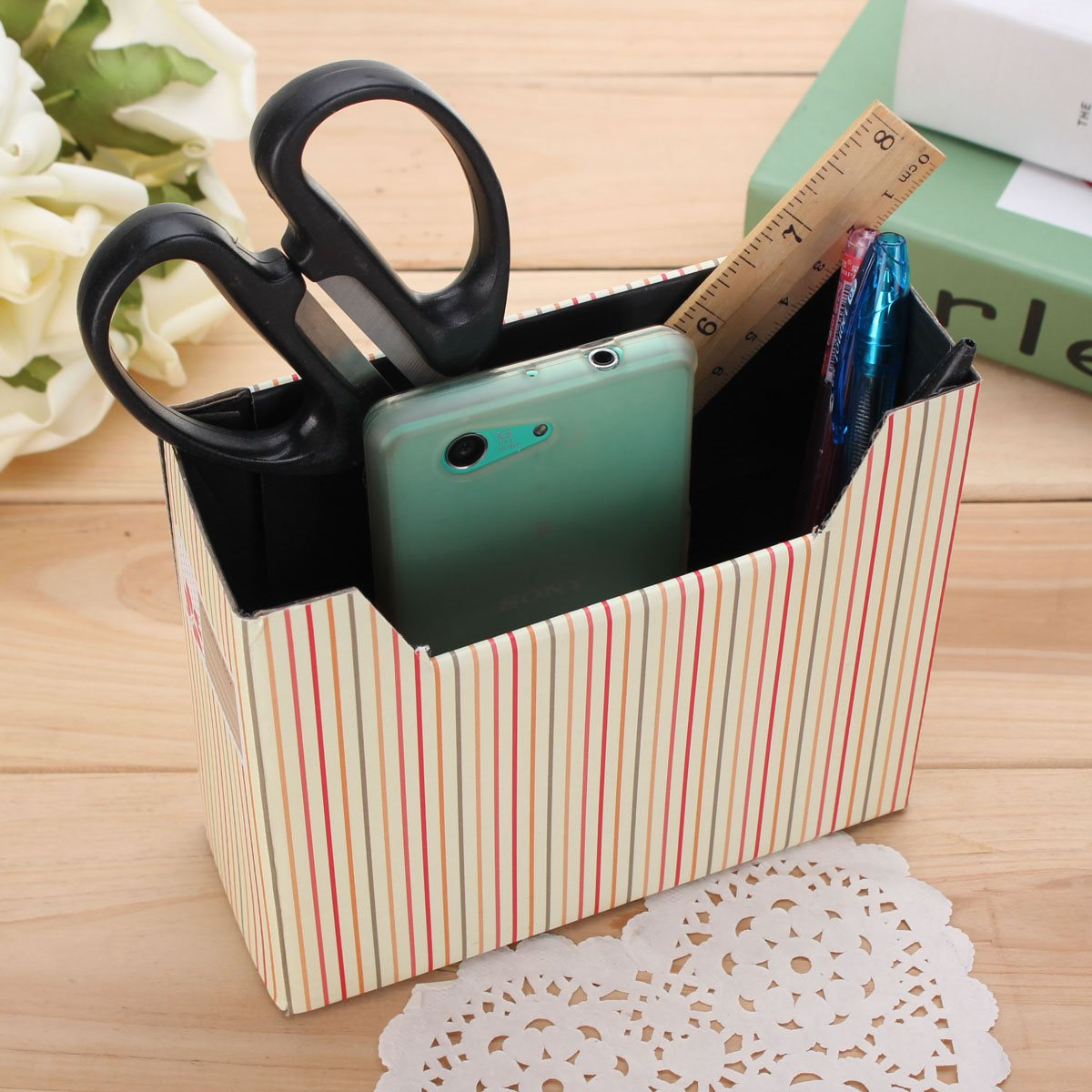 Online get cheap cardboard desk organizer - Cheap desk organizer ...