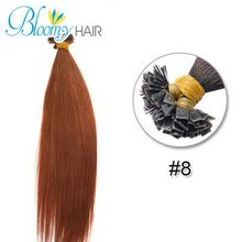 7A Flat Tip extensions 1pac/lot 16-20inch European human Hair Colors For Beauty Pre Bonded Extensions Keratin Natural Hair Hot(China (Mainland))