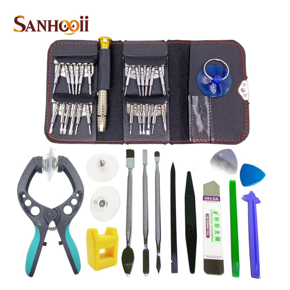 38in1 Smart Cell Mobile Phone Screen Opening Repair Tools Screwdriver Plier Pry Disassemble Tools set Kit For iPhone For Samsung(China (Mainland))
