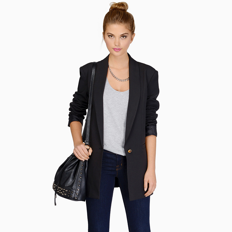 5 colori осень новинка женщины тонкий пиджак