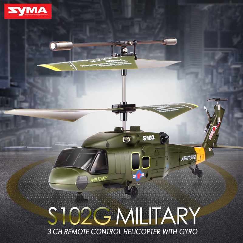 100% Original Syma S102G Gyro Military AH-1 3CH Indoor RC Attack Helicopter Radio remote control high quality Toys(China (Mainland))