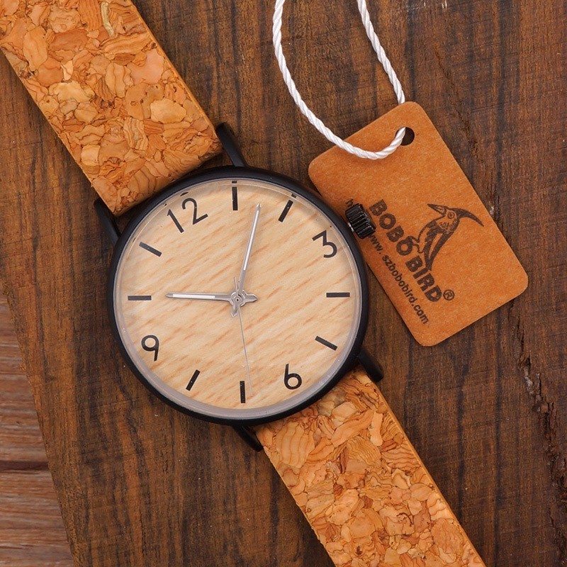 BOBO BIRD E19 Women's Vintage Design Brand Luxury Wooden Bamboo Watches Ladies Watch With Real Leather Quartz Watch in Gift Box