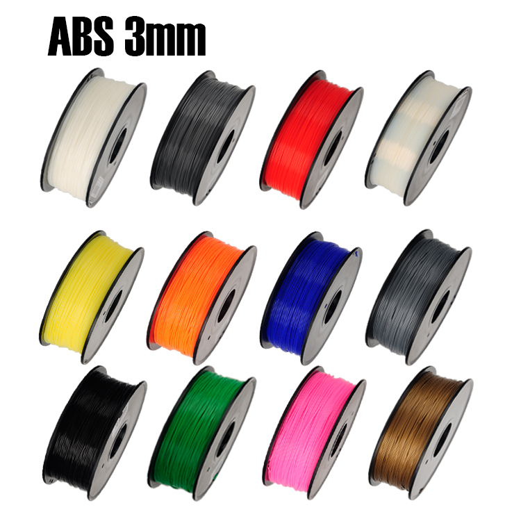 ABS 3mm 1Kg spool Plastic Rod Rubber Ribbon Consumables Material Refills for MakerBot RepRap UP Mendel