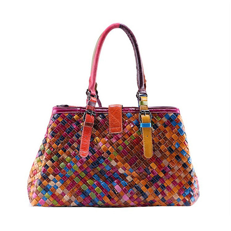 bolsos de mano Multicolor Cowhide leather bag women 2015 fashion vintage bag tas kulit messenger bags sac de marquee W0078<br><br>Aliexpress