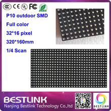 2016 Outdoor full color RGB 32x16 P10 led display module 32*16 pixel 1/4 scan P10 SMD video led display board signs(China (Mainland))