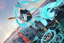 Hatsune Miku 3—2016 Hot sale Japanese Anime Home Decor Horizontal Version Scroll Paintings Art Canvas Wall Picture