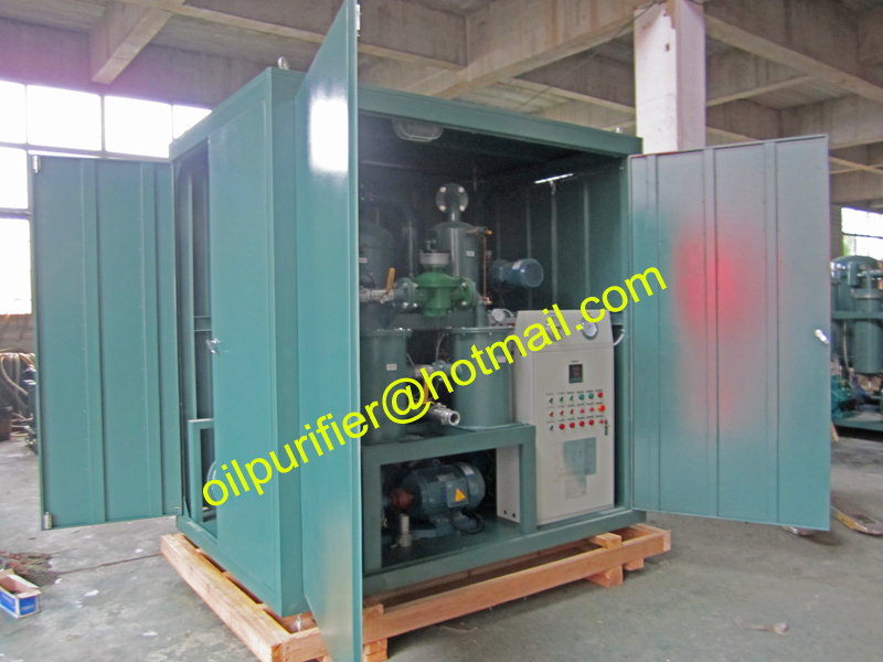 Enclosed Transformer Oil Purification Plant,Insulation Oil Filtering Machine for field work,Oil Reclamation Plant(China (Mainland))
