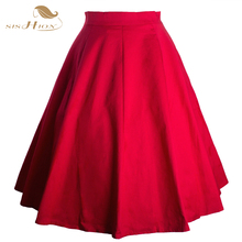 New 2016 Summer Style Sexy Short Women Skirt Black Red Blue Ball Gown Pin Up High Waist Rockabilly Vintage Skirt VD0178