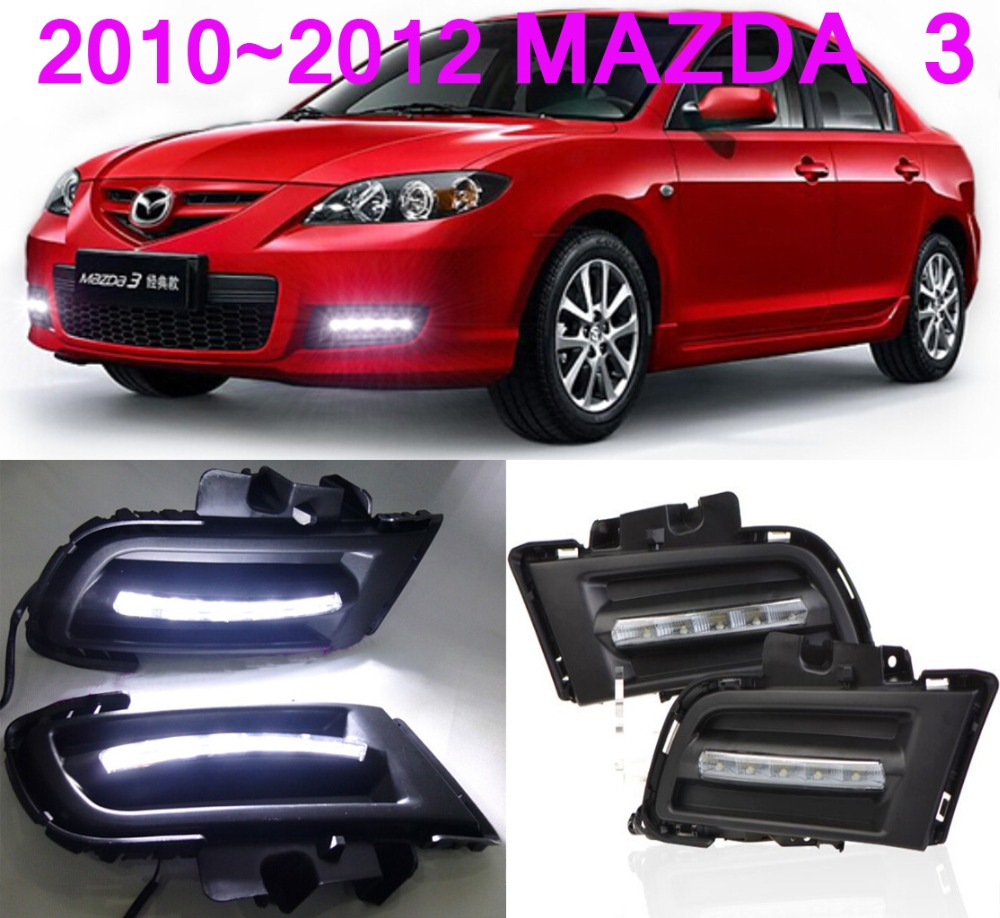 Free ship!2010~2012 MAZDA 3 LED daytime running light,2pcs/SET(1pcs Left+1pcs Right+wire of harness)6000~7000Kgood quality<br><br>Aliexpress