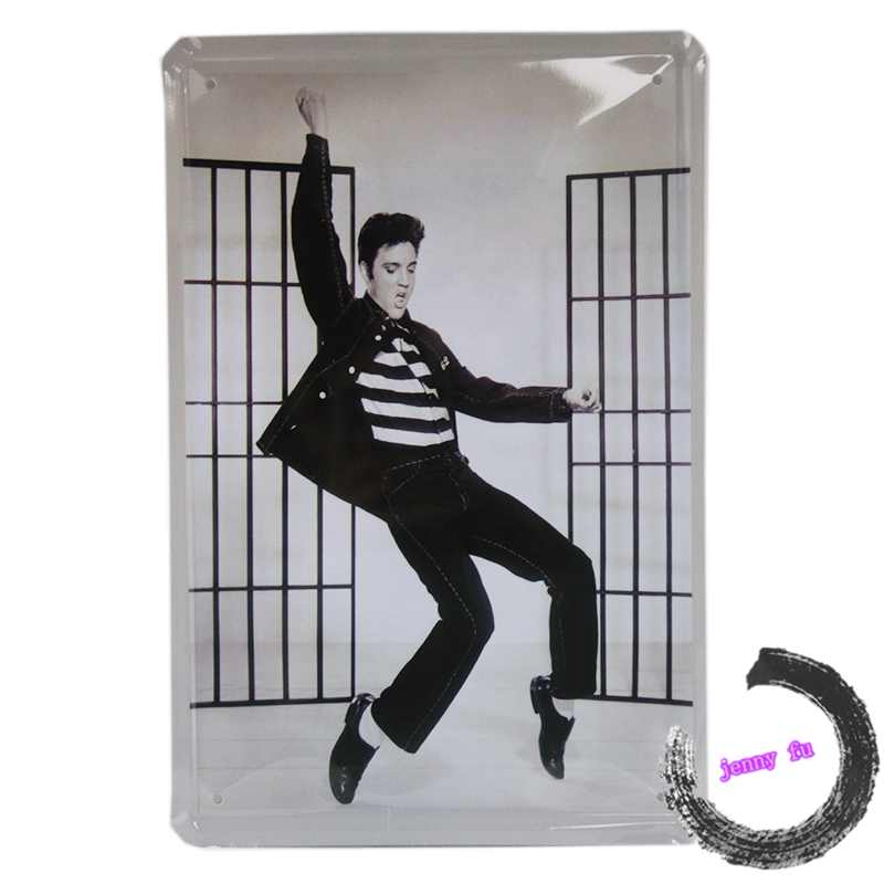 ELVIS PRESLEY TIN SIGN GREAT COLLECTABLE MANCAVE,OFFICE,BAR,SHOP DISPLAY ETC K115(China (Mainland))