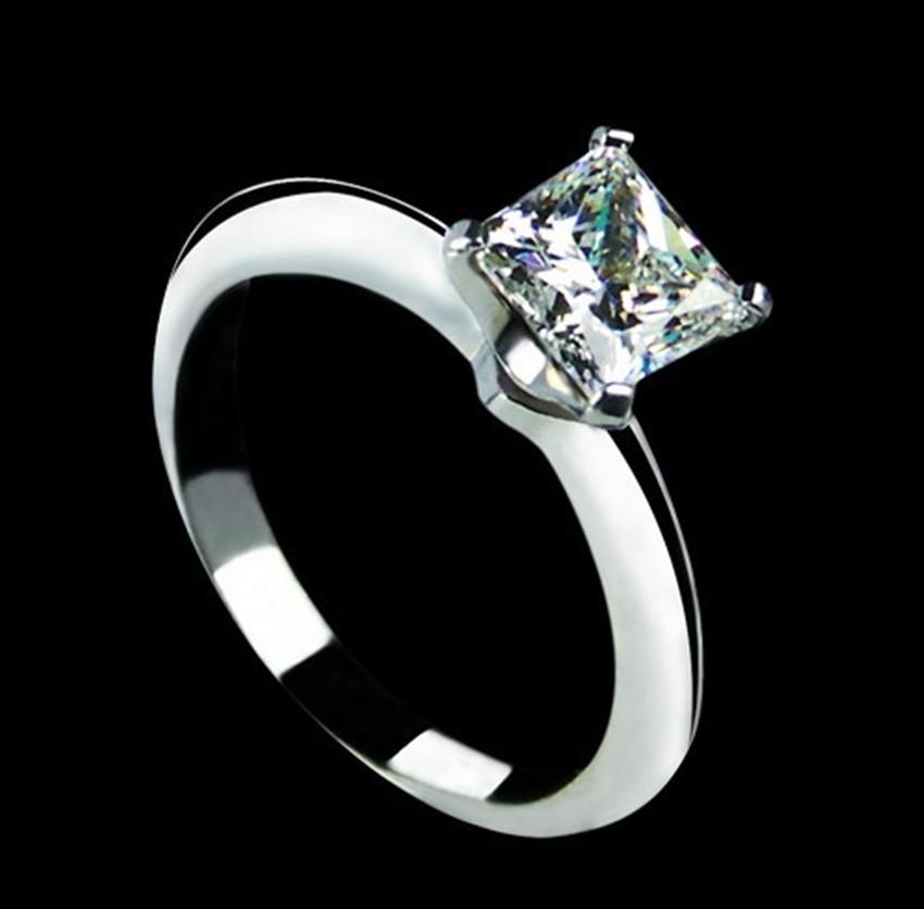 1 carat princess cut popular style nscd synthetic