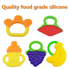 1PCS Hotsale Glister Baby Kid Infant Safety Teeth Stick Teethers Rear Molar Silicone ,Great food silicone Baby Teethers(China (Mainland))