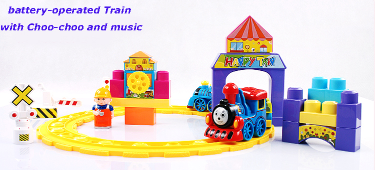 Simulation Sound Free Combination and Disassembly Building Blocks Thomas Rail Train DIY Children's Toy 3C,Christmas Gift(China (Mainland))