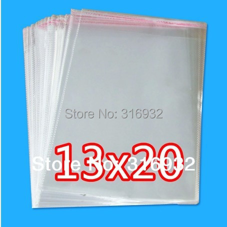 E4 Clear Resealable Cellophane/BOPP/Poly Bags 13*20cm  Transparent Opp Bag Packing Plastic Bags Self Adhesive Seal(China (Mainland))