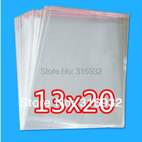 E4 Clear Resealable Cellophane/BOPP/Poly Bags 13*20cm  Transparent Opp Bag Packing Plastic Bags Self Adhesive Seal