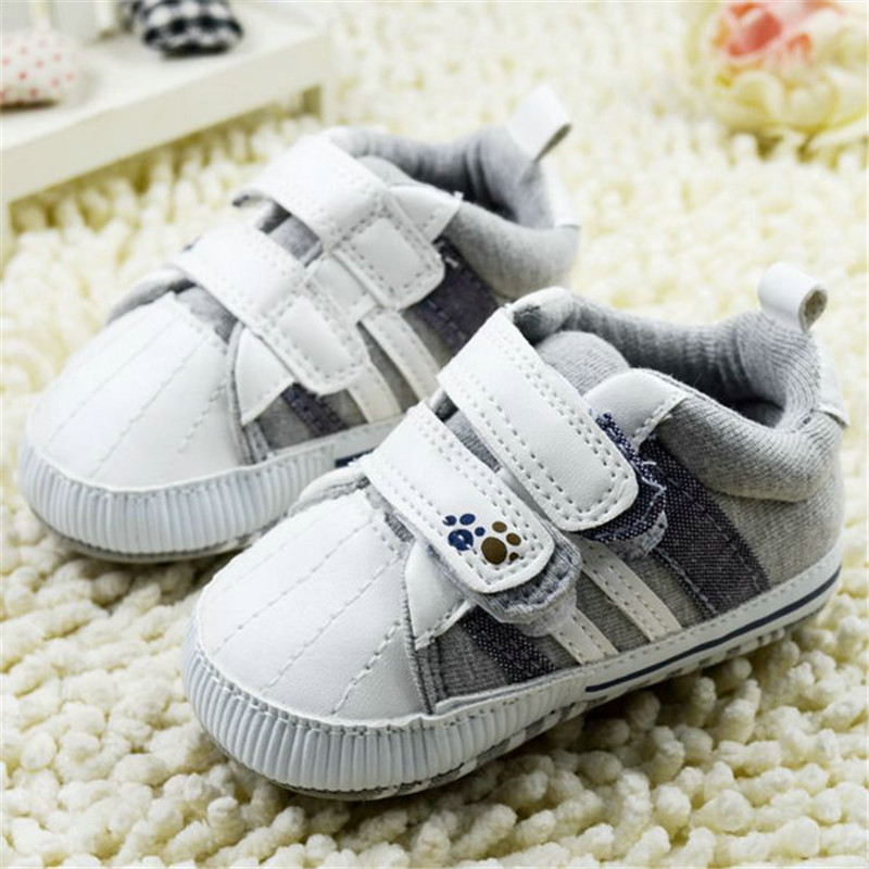 9Styles Baby& Infants Baby Crib Shoes Anti-slip Soft Boys girls Velcro Sneaker 0-18 Months