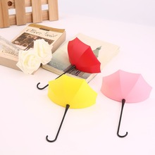 Buy 3Pcs Colorful Umbrella Wall Hook Key Hair Pin Holder Organizer Decorative Popular New for $2.02 in AliExpress store