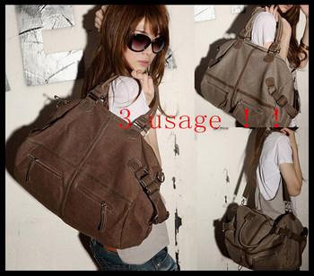 2015 canvas bag fashion handbag women messenger bags bolsas shoulder sport bag bolsos mujer handbags Free Shipping khaki coffee