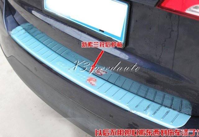 Stainless Steel Rear Bumper Door Sill Plate Scuff For Kia Sorento 2013<br><br>Aliexpress