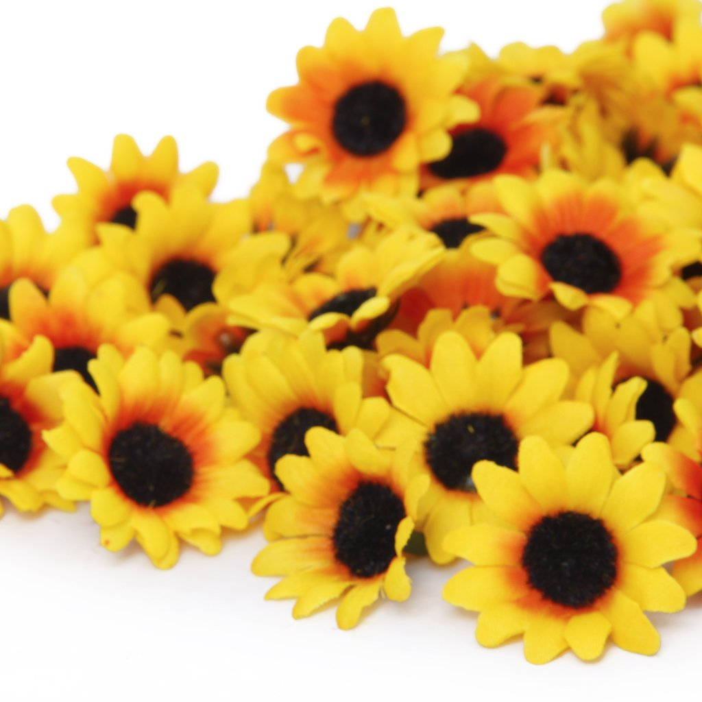 SAF Hot 100-in-1 black core sunflowers yellow flower head fake(China (Mainland))