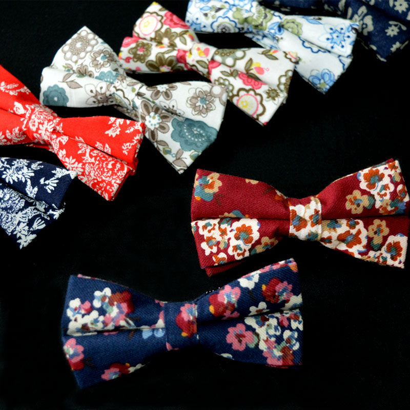 Fashion Cotton Men's Bowknot Bow Tie Newest Shirts Bow Ties For Wedding Popular Floral Men's Bow Tie Cravats Brand Accessories(China (Mainland))