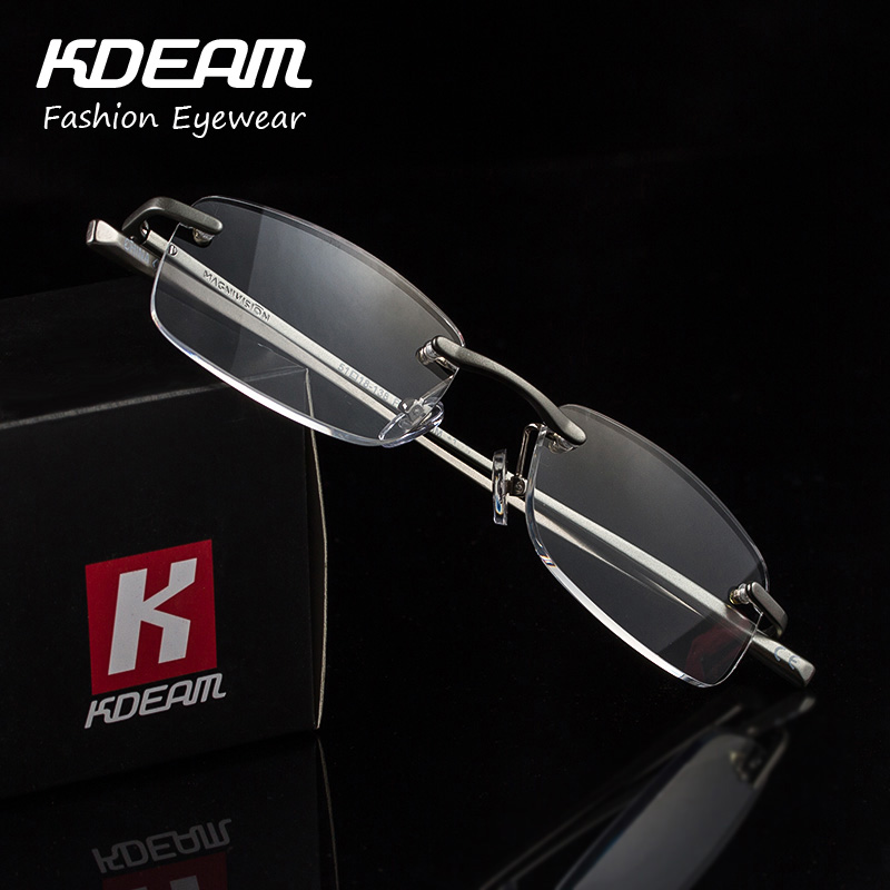 Luxury Reading Glasses for Women Aluminum Frame Men Presbyopia Eyewear Italy Design Metal Fashion Comfortable KDEAM Brand R004