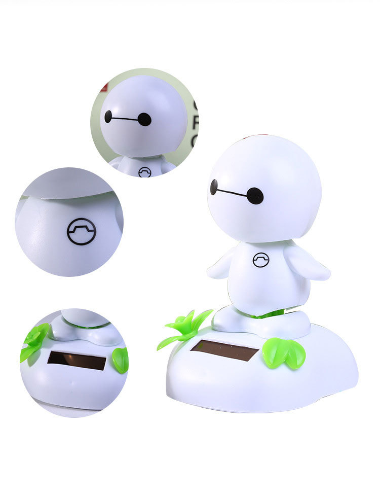 """Car Decoration Cute Big Hero 6 Baymax Figures Solar Powered Dancing Movable Toy 4"""" Car Decoration Kid Child Festival Gift(China (Mainland))"""