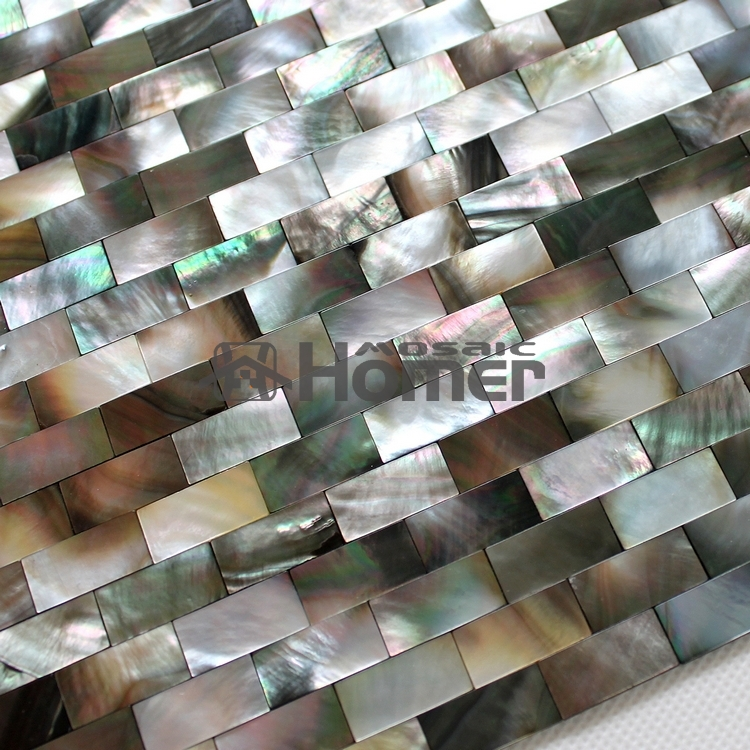 free shipping black mother of pearl tiles kitchen