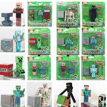 28pcs/1lot 2015 minecraft building blocks steve enderman sword pickaxe action figure toys minifigure(China (Mainland))