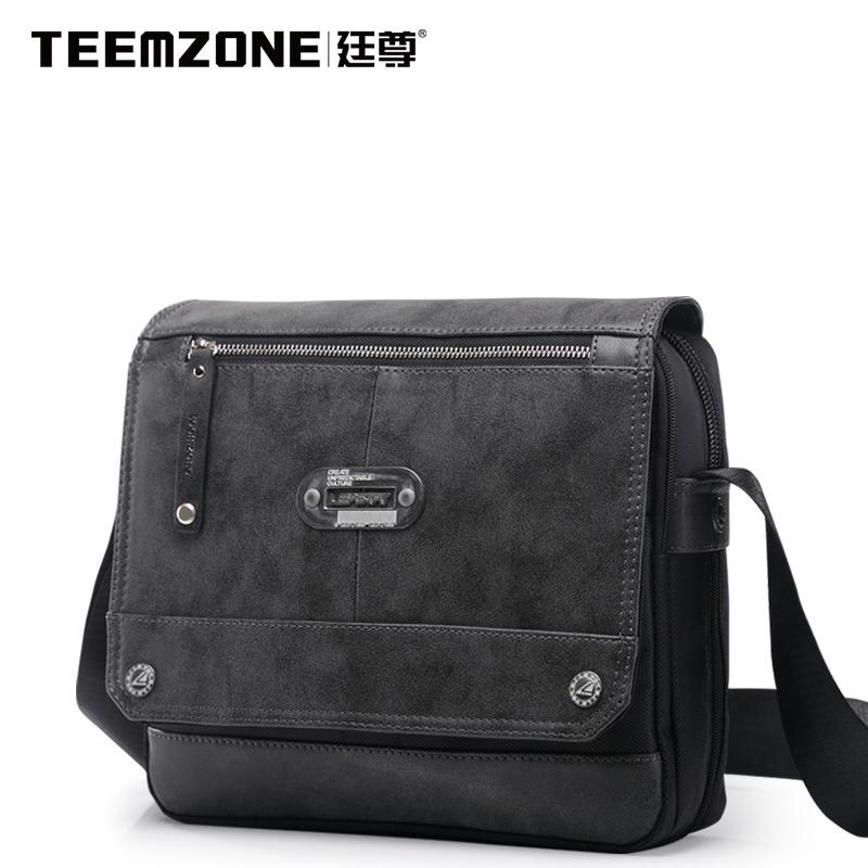 Teemzone cross section male Bag Shoulder Bag Messenger Bag Canvas Bag fashion casual male small Korean nylon bag<br><br>Aliexpress