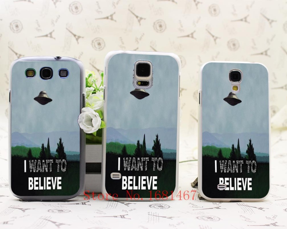 10N- I Want To Believe UFO ET ufo Hrad Style Case Cover for Samsung Galaxy S5 S4 S3 I9600 I9500 I9300 1PC(China (Mainland))