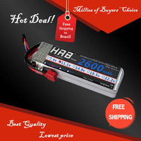 Free Shipping HRB Wholesale Price 11.1V 2600mah 35C Max 55C Toys & Hobbies For Helicopters RC Models Li-polymer Battery
