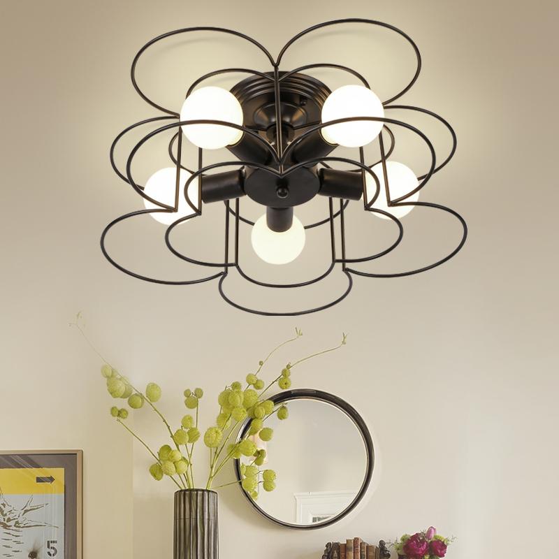 modern ceiling lights with bulbs vintage loft living room light plafondlamp industrial retro cafe bar kitchen bedroom lamp(China (Mainland))