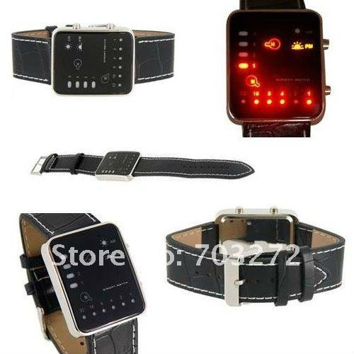 freeshipping!New Fashion Men's Watch Binary Japanese Multicolor LED Watch - The Singularity wrist watch !