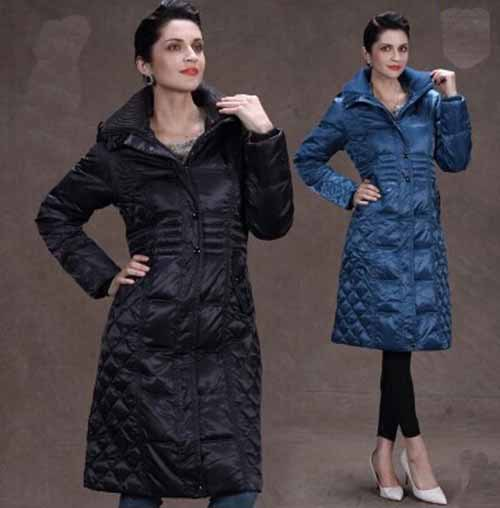 Long section of double-knit collar temperament Slim Down jacket winter kneeÎäåæäà è àêñåññóàðû<br><br>