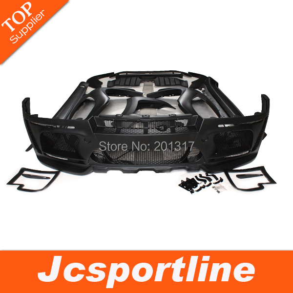 08-11 Unpainted Black Primmer HM Style Wide X6 Auto Bumper FRP Body Kits Bodystyling Tunning Parts for BMW Fit X6(E71)(Hong Kong)