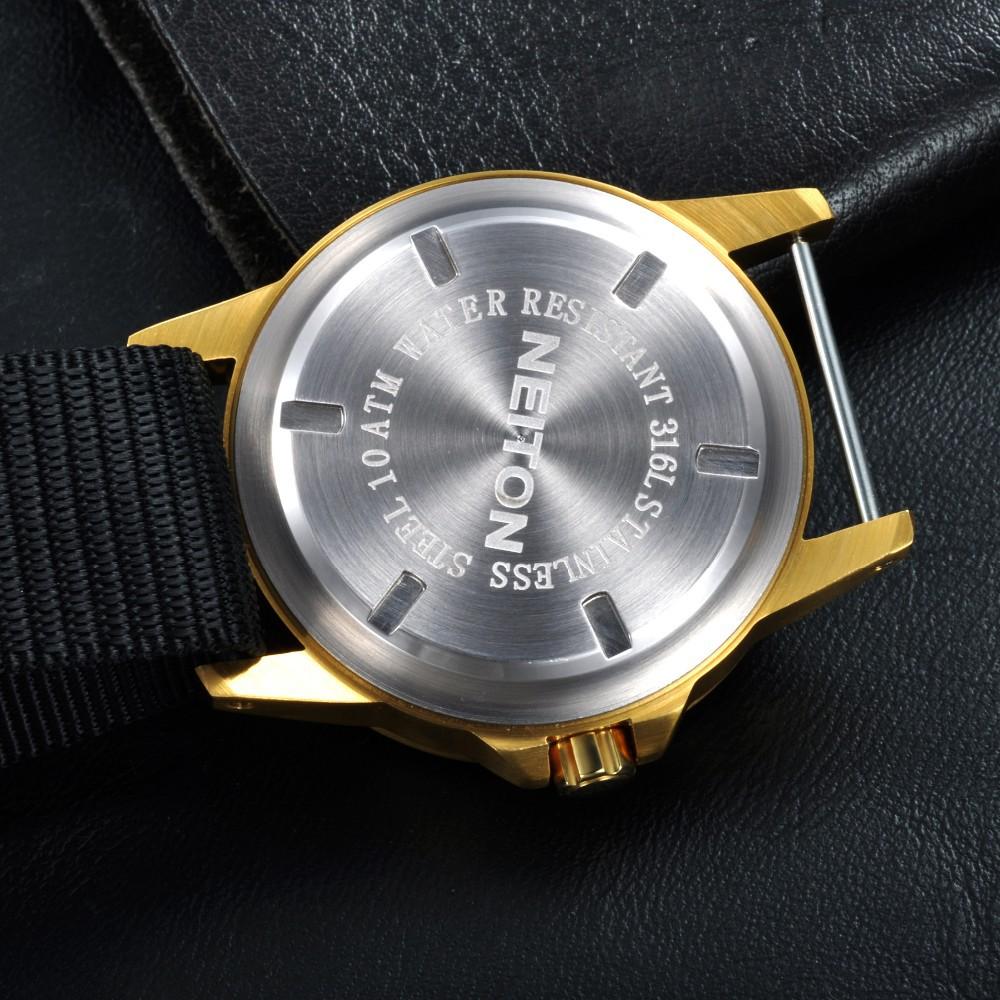 42 мм Neiton Световой Автоматическая Мужчины Движения Watchproof Часы NA4201GB