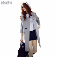3Color S 5XL Autumn New Outfit New Lady Windbreaker 200 pounds of loose leisure Solid Color