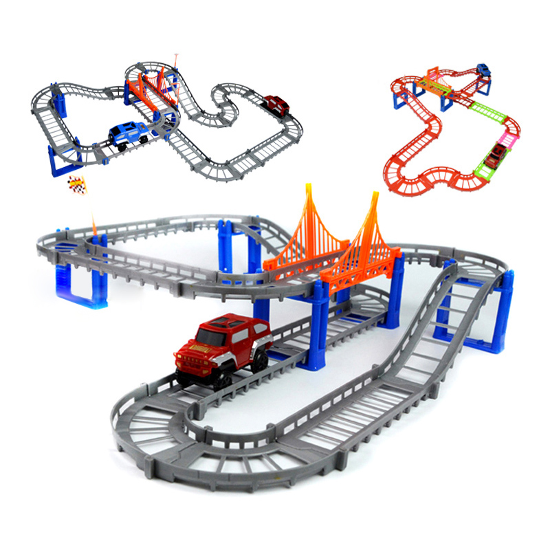 Double Tracks Electric Rail Train Thomas And Friends Railway Track Boy Toy Car Hot Wheels Cars Machines Kids Toys for Children(China (Mainland))