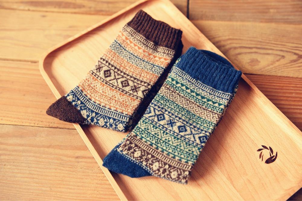 New free shipping caramella wool socks men high quality sox socks style winter warm happy's socks weed stocking 201w(China (Mainland))