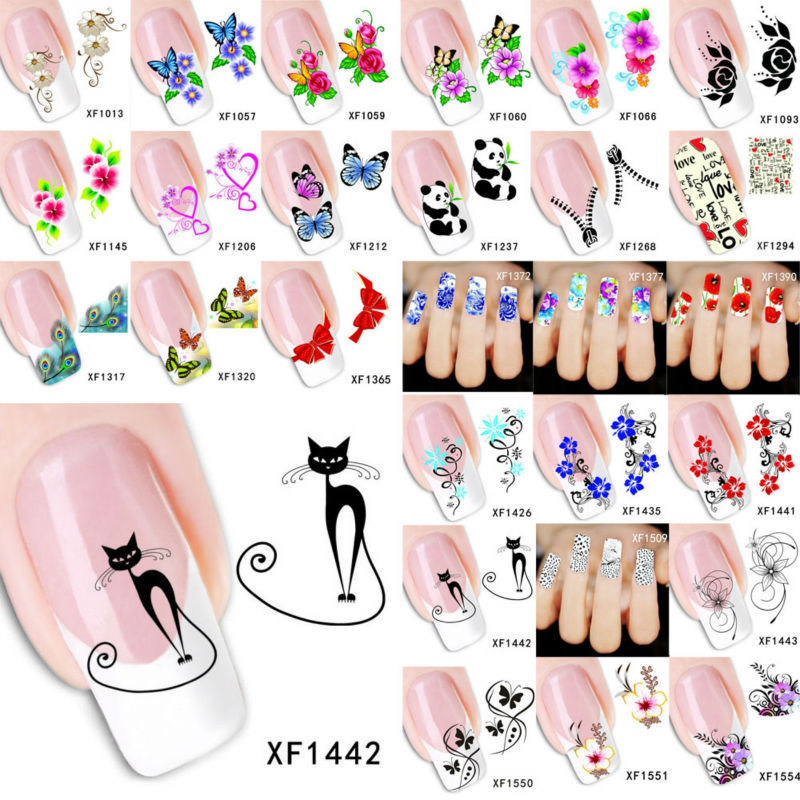 Nail Design Decorative Stickers Animal Cat Nail Decoration Nail Art Water Decals Transferable Stickers For Nails Sticks BXFLLL1(China (Mainland))