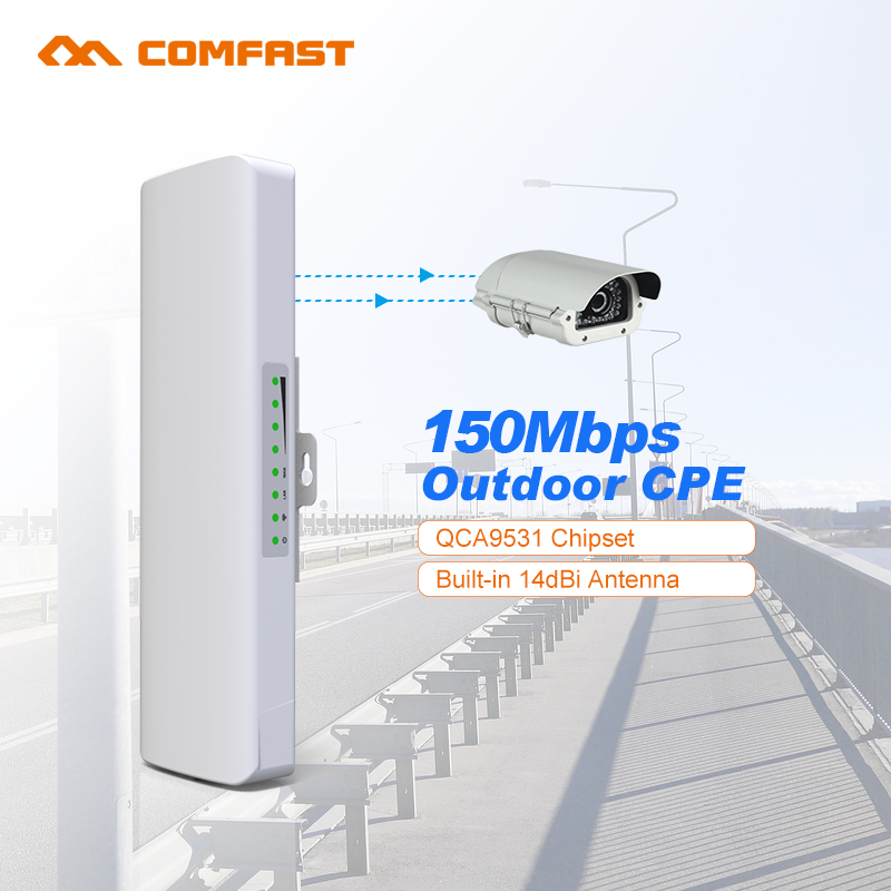2pcs Wireless CPE CF-E214 Signal booster amplifier 14dBi WIFI antenna repeater router access point Nanostation ip camera monitor(China (Mainland))