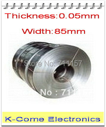 0.05mm Thickness 85mm Width 5M/lot Stainless Steel Sheet Plate Leaf Spring Stainless Steel Foil The Thin Tape Free Shipping(China (Mainland))