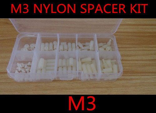 Гаджет  lowest price 120PCS M3*6 8 10 12  Nylon Hex Spacers Screw Nut Assortment Kit Standoffs Plastic Accessories Set None Аппаратные средства