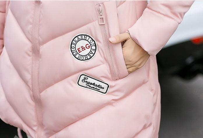 Скидки на Теплый Женщина Парки Зимние Пальто Женщин Сгущать Вниз Хлопка С Капюшоном Зимняя Куртка И Пиджаки для Женщин Мягкий Длинный Куртка Женская Одежда