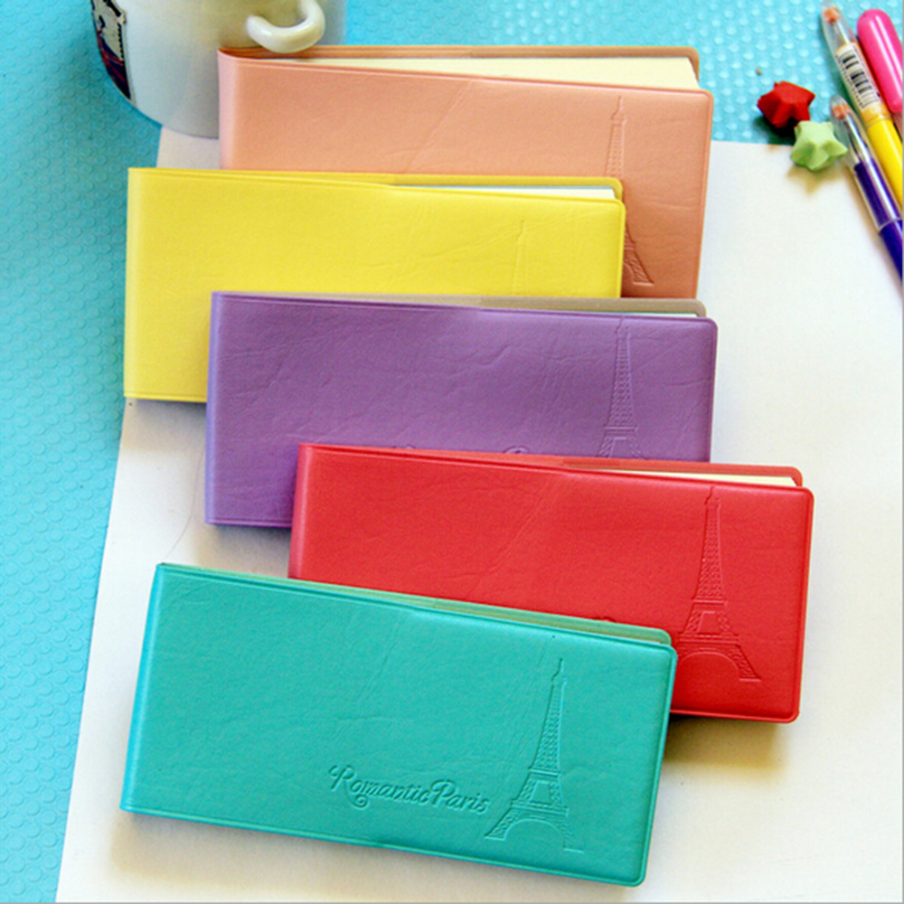 PU Leather Colored Cover Rectangle Memo Pads School Stationery Mini Notepad Office Accessories Papelaria Note-taking Notebooks(China (Mainland))