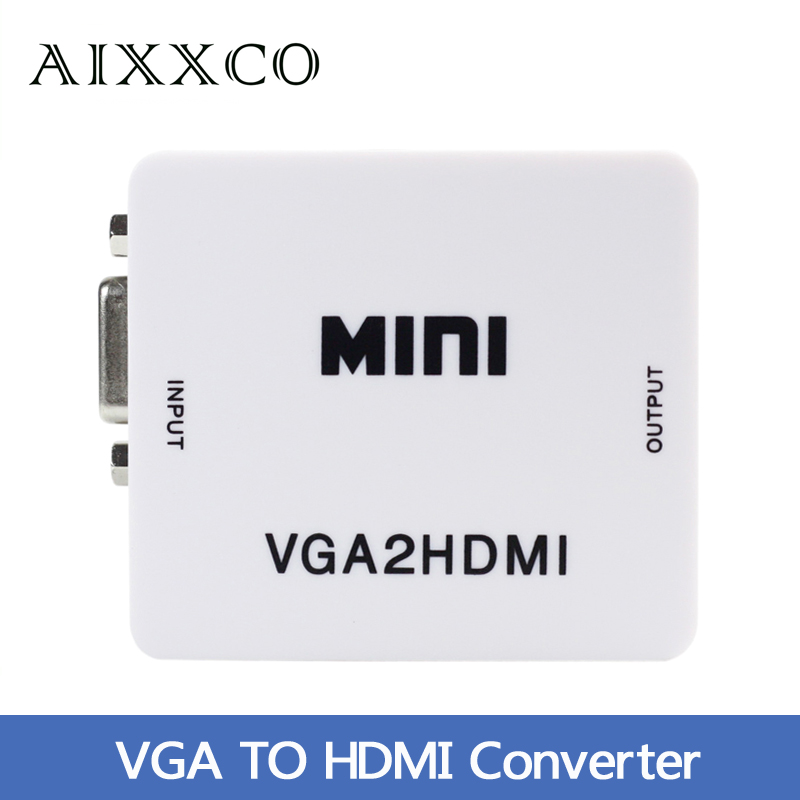 Mini HD 1080P Audio VGA To HDMI HD HDTV Video Converter Box Adapter With HDMI Cable For PC Laptop to HDTV Projector(China (Mainland))